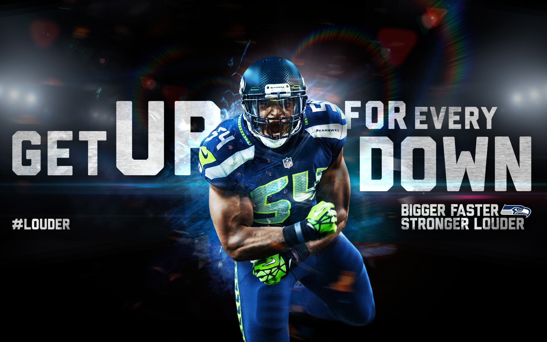 Get Up For Every Down LOUDER Nfl football wallpaper