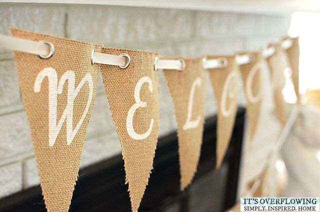 Diy Burlap Welcome Home Banner Itsoverflowing Com