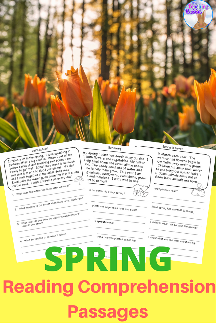 Use these 20 spring reading passages to help primary students ...