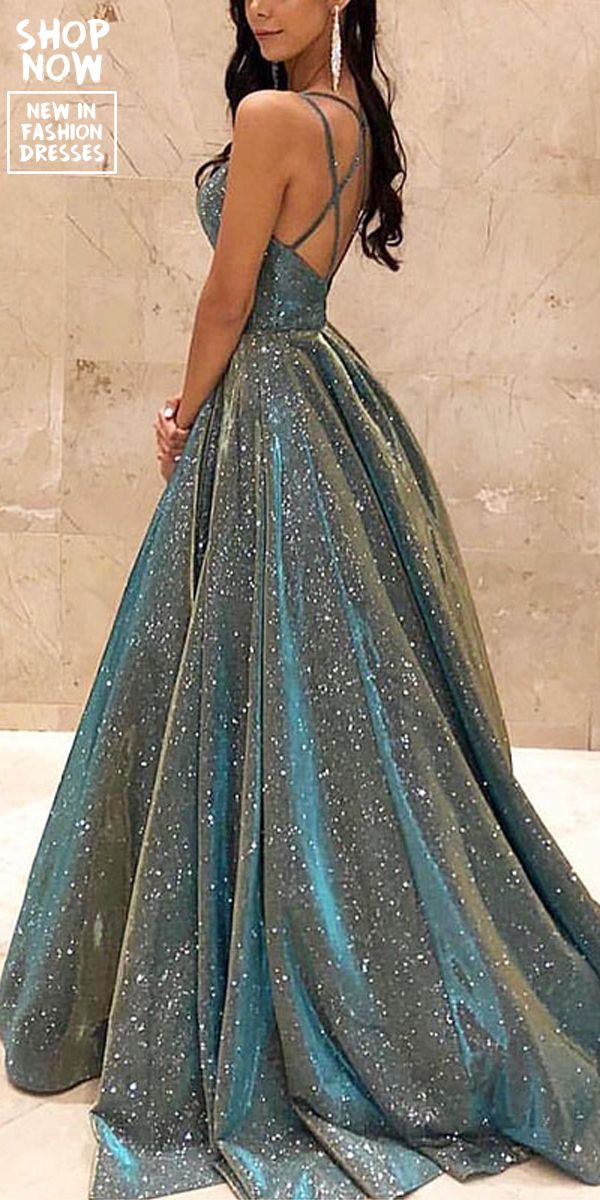Sexy Sparkling Crystal Backless Swinging Dress #eveninghair