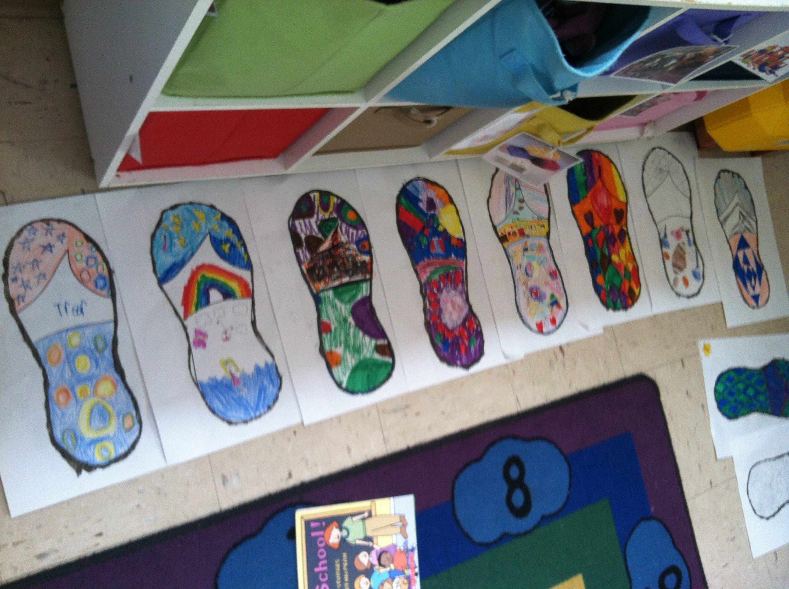 Summer flip flop project for school age children School