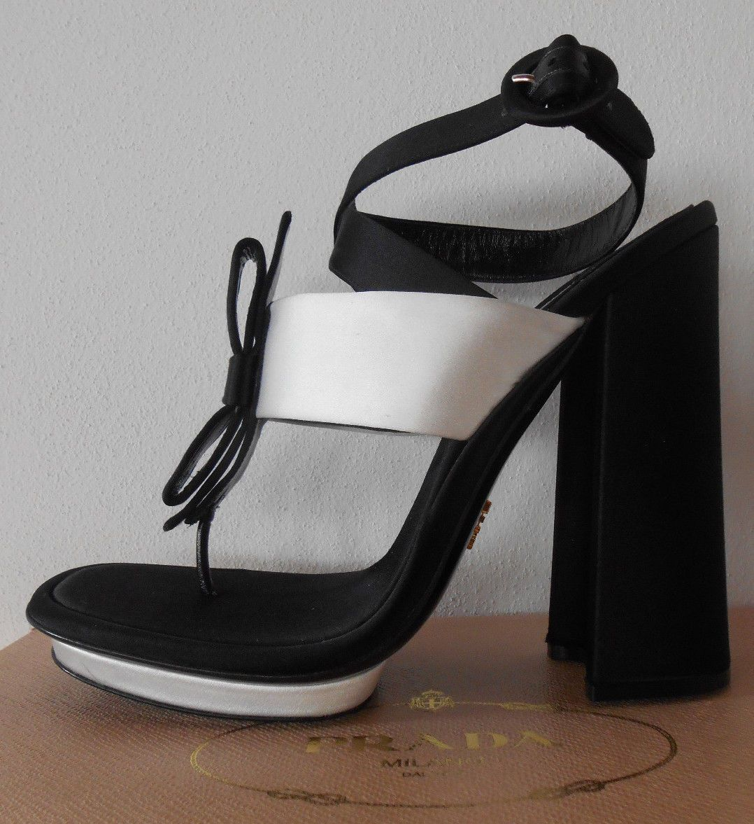 Prada Shoes Spring 2013 Collection Authentic Prada Women Black Satin 40 | #Prada
