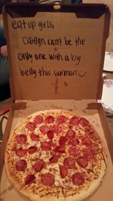 Embarazo y pizza