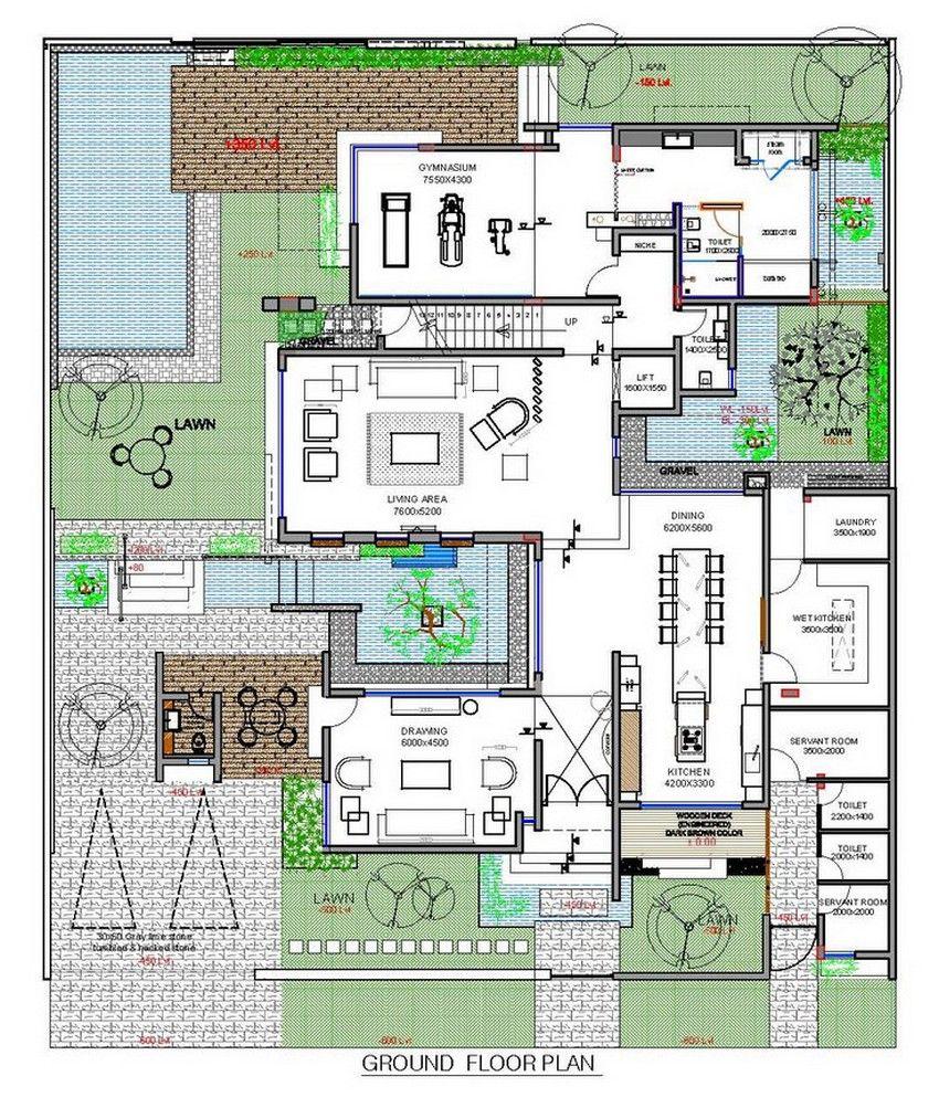 Planos De Casa De Tres Pisos Moderna Fachada Con Volúmenes