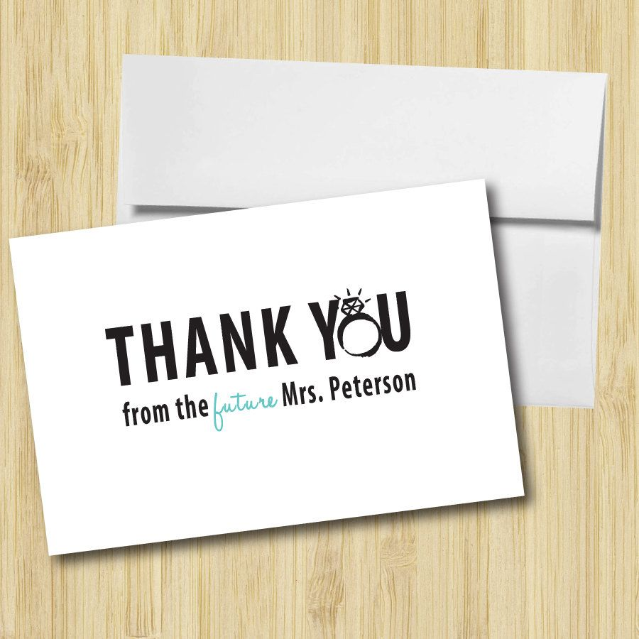 thank you cards have guests fill out the envelope with