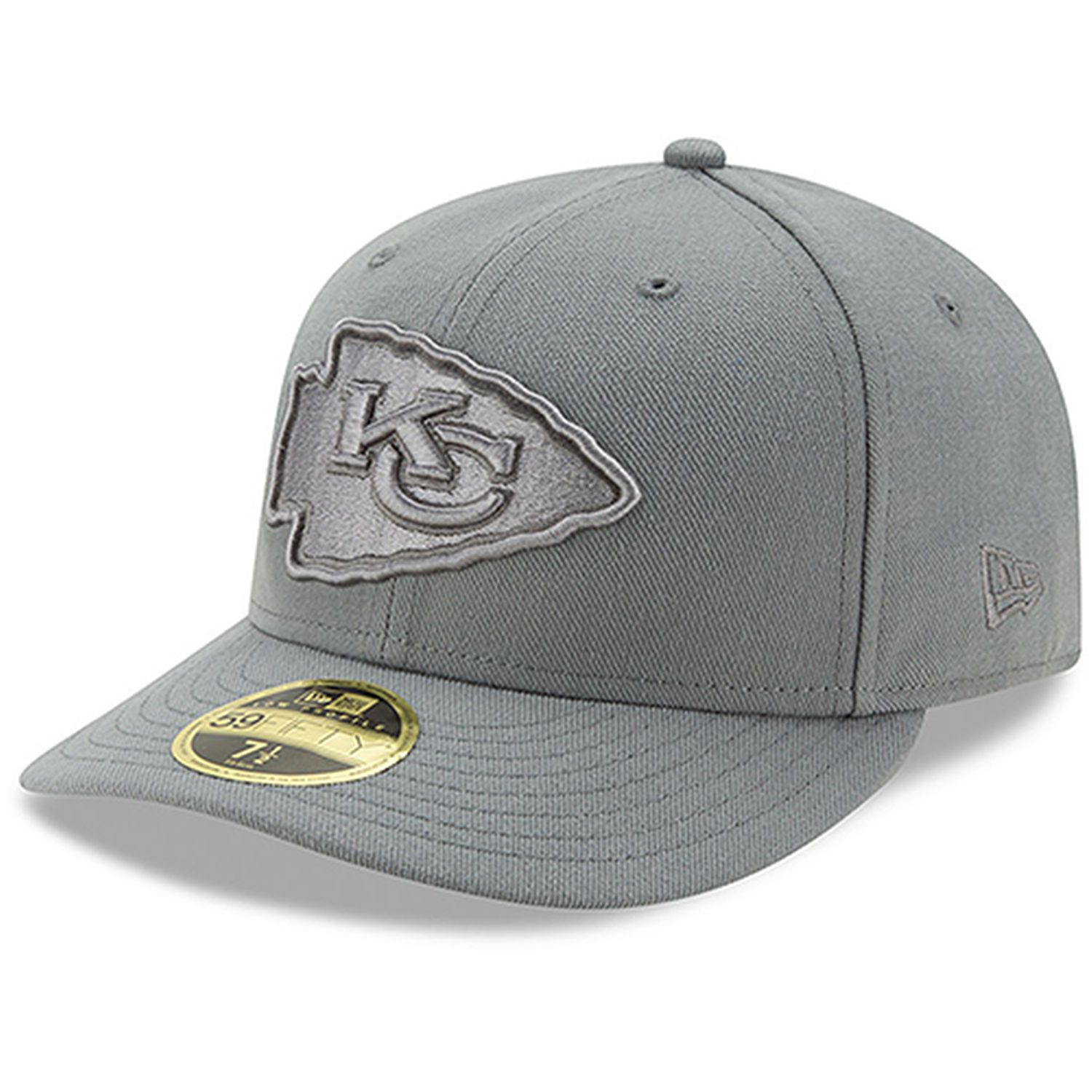 sale classic fit sale Kansas City Chiefs New Era Storm Gray League Basic Low Profile ...