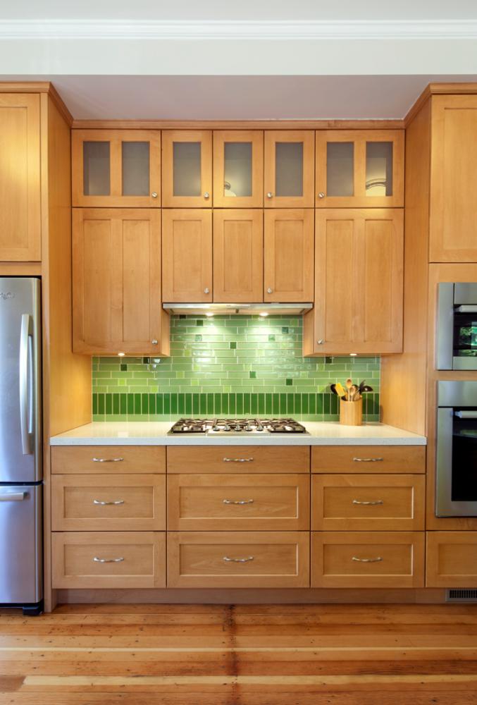 Glass tile backsplash pattern 100 Year-Old House | MN ...