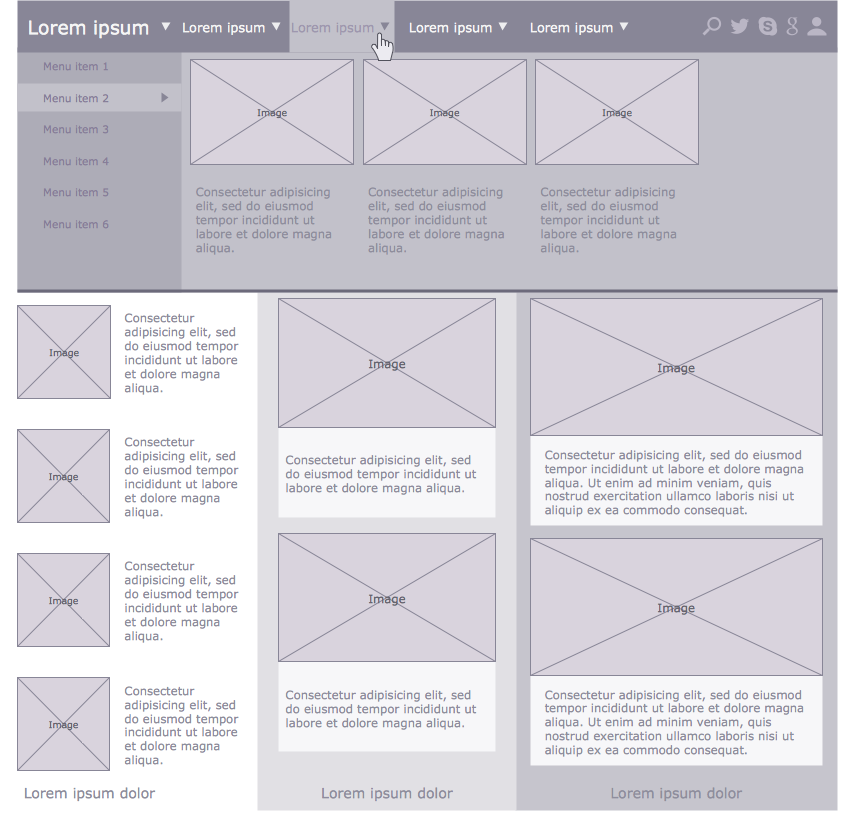 Example 2 multi author blog wireframe this diagram was created in example 2 multi author blog wireframe this diagram was created in conceptdraw ccuart Image collections