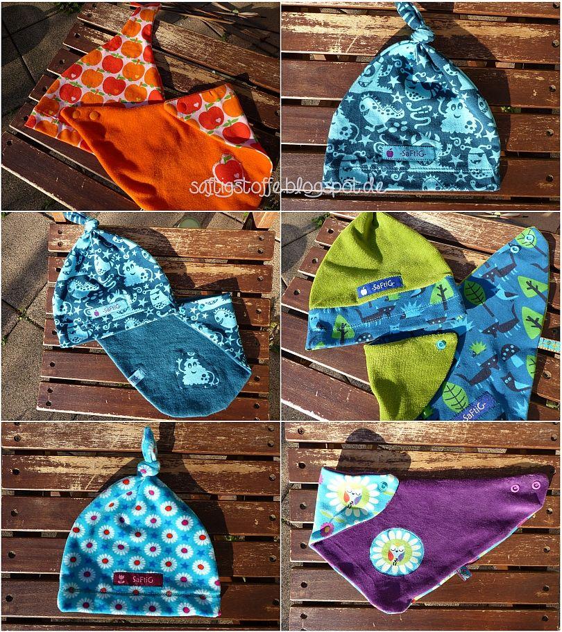 kuschelige Mützchen und Schals aus Nicki und Jersey