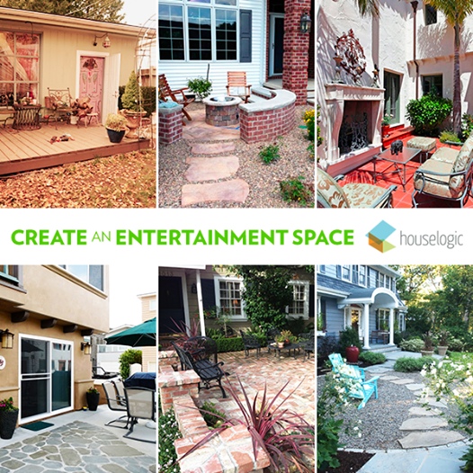 Add a patio to your front yard for a perfect year-round entertainment space. http://bit.ly/HLfb_Patio