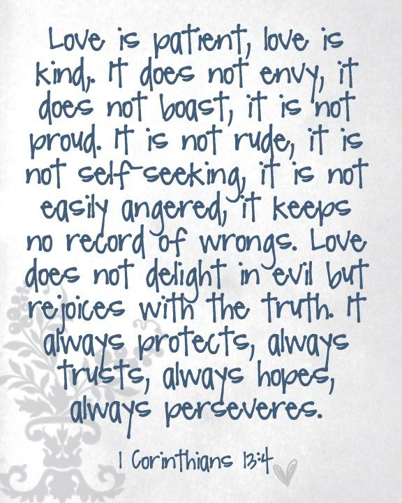 Love does not boast quote