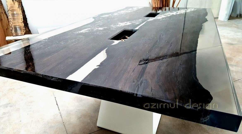 Tavolo in legno e resina di azimut resine antiche sezioni for Tavolo legno resina