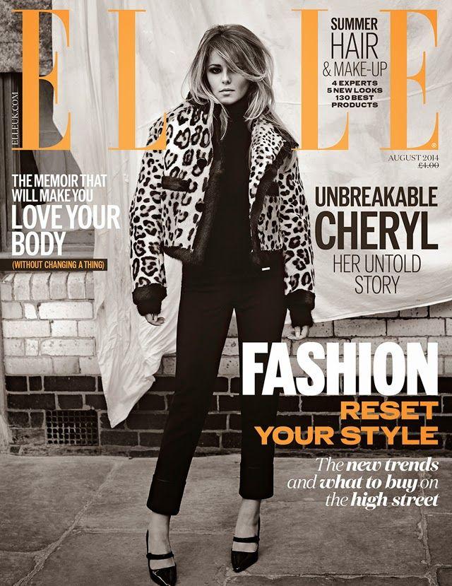 awesome Elle UK Agosto 2014 | Cheryl Cole  [Capa]