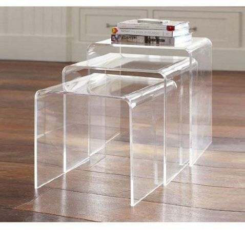 Homcom 3pc acrylic perspex nesting tables clear tesco direct homcom 3pc acrylic perspex nesting tables clear watchthetrailerfo