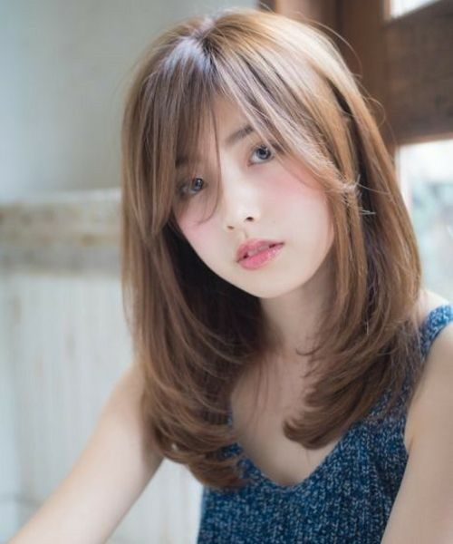 Sensational Inverted Long Hairstyles For Asian Women Viral Hairstyle Hair Styles Long Hair With Bangs Asian Hair