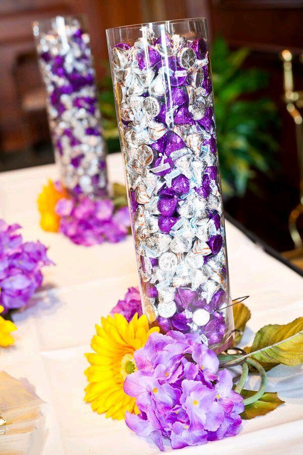 Pin By Roxana Figueroa On Centro De Mesa 2 Candy Centerpieces Wedding Candy Bridal Shower