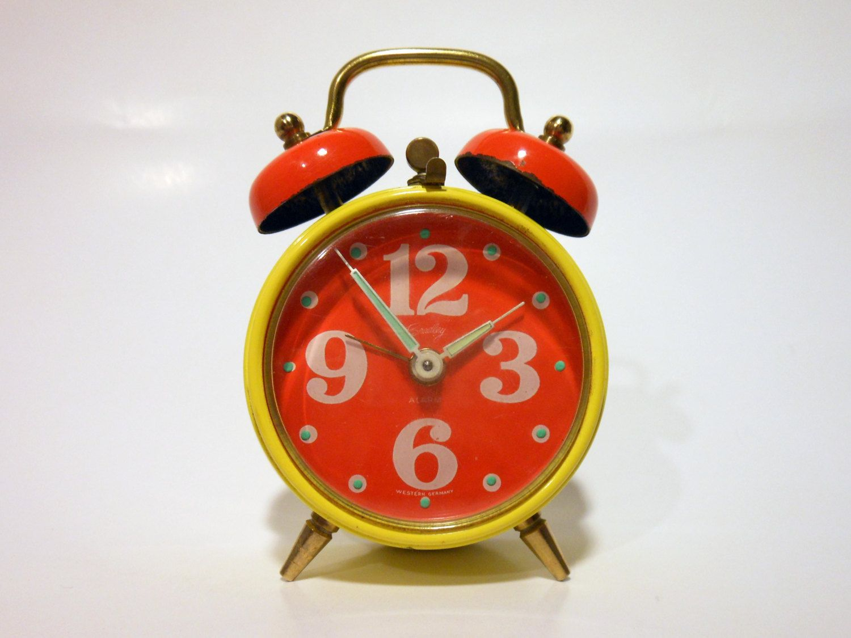 Mod Bradley Wind Up Alarm Clock West Germany 19 99 Via Etsy