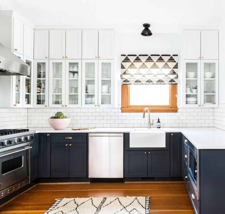 Fremont Heidi Caillier Navy Kitchen Cabinets Kitchen Cabinet
