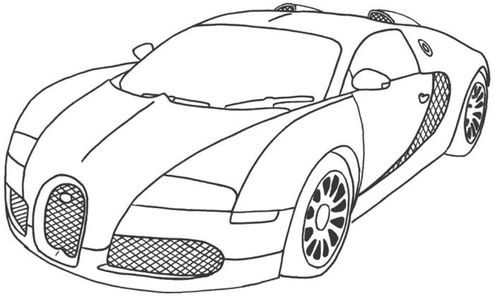 Best Car Sport Bugatti Veyron Coloring Page Race Car Coloring