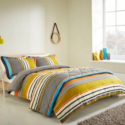 Grey Bali Stripe Bed Linen Set At Debenhams Com Super King Duvet Covers Bed Linen Sets Striped Duvet Covers