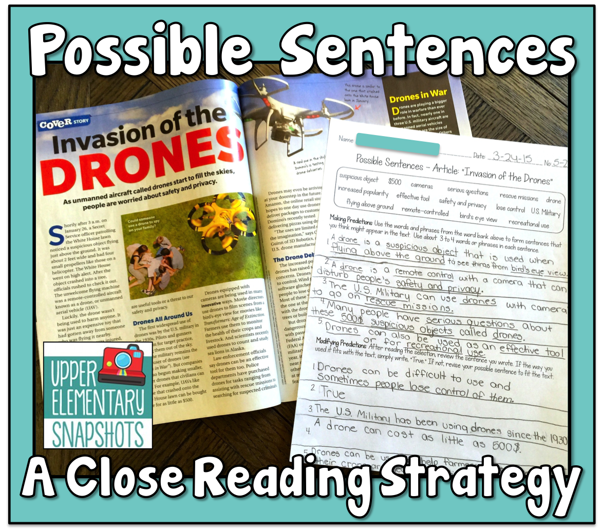 Possible Sentences A Close Reading Strategy
