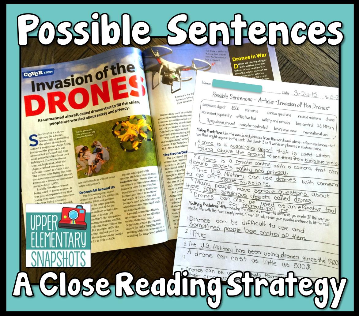 Possible Sentences A Close Reading Strategy