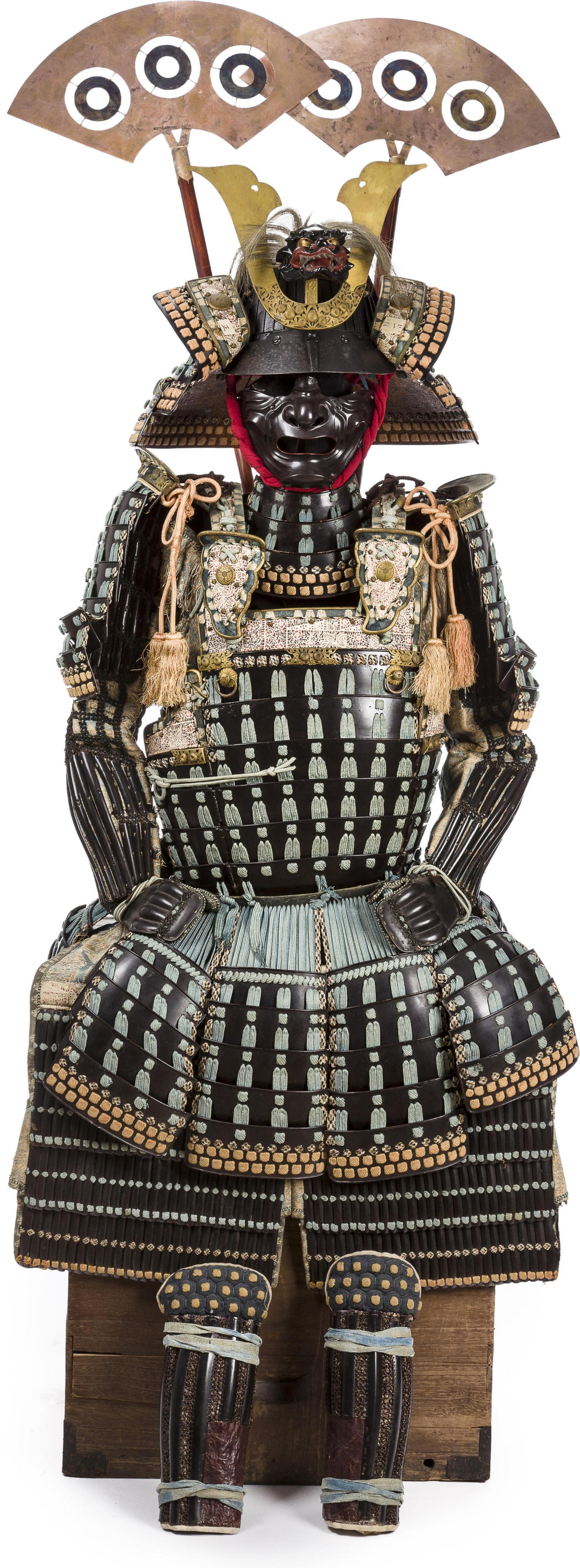 48 Plate Suji Bachi Kabuto Helmet Mogami Do Dou Cuirass Gusoku Suit Of Armor Kabuto By Myochin Munehisa Late Murom Samurai Armor Armor Ancient Armor