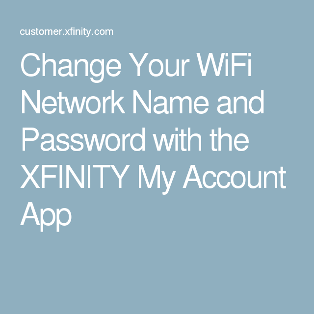 How to View and Change Your WiFi Network Name and WiFi Password