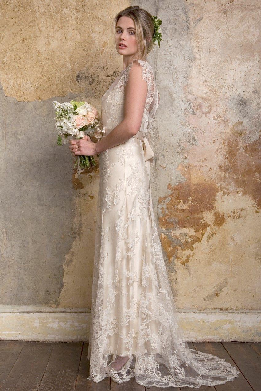 Romantic Vintage Wedding Dresses From Sally Lacock French Lace Wedding Dress French Lace Wedding Wedding Dresses Romantic