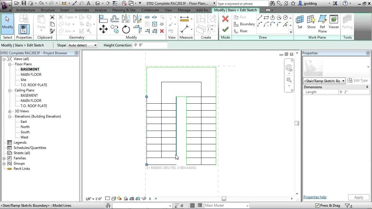 Revit Architecture 2013 Tutorial | Edit Stair by Sketch ...