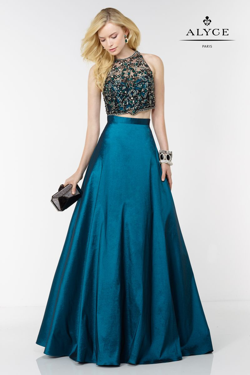 Alyce Paris two piece dress with a full bodice skirt. Style #6622 ...