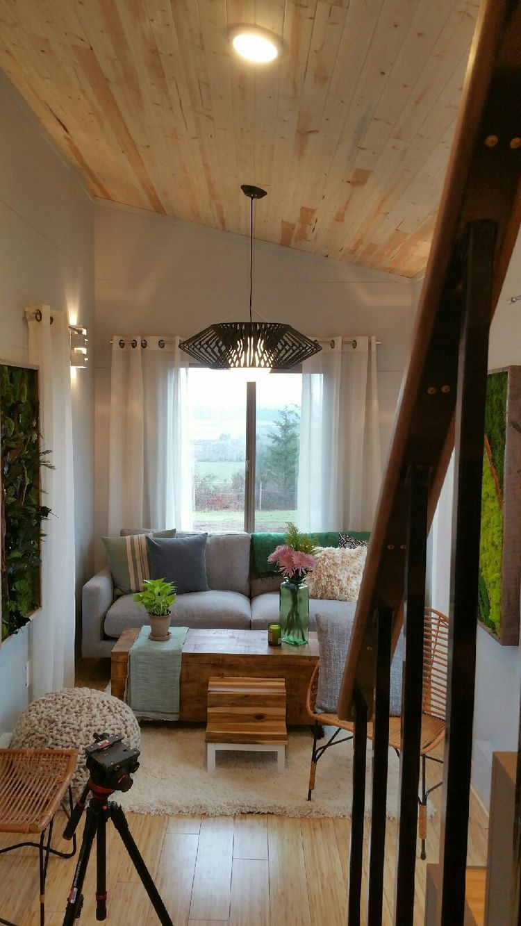 Two 24 Tiny Houses Connected By Sunroom Tiny House Furniture