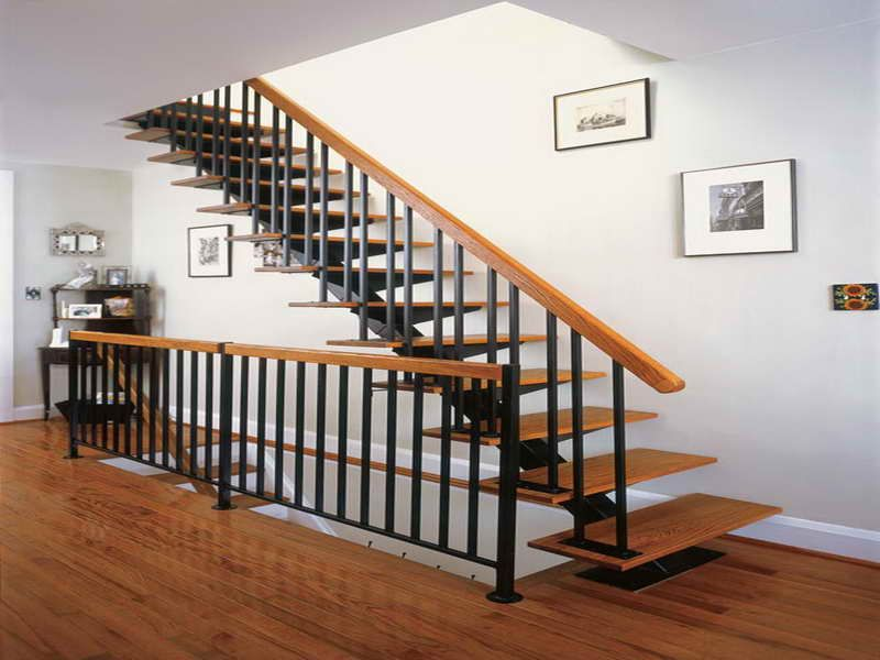 Interior Metal Stair Railing Kits Wrought Iron Interior Railings