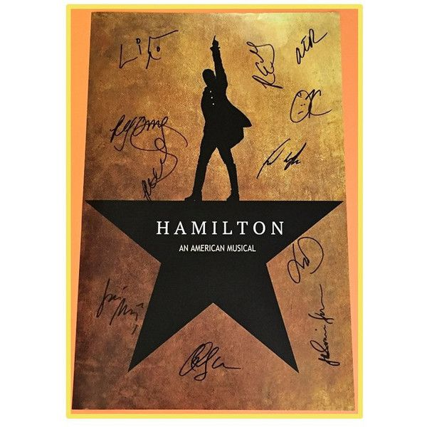 HAMILTON POSTER Broadway AUTOGRAPHED Lin Manuel Miranda, Phillipa Soo,... ❤  Liked On Polyvore Featuring Home, Home Decor, Wall Art, Image Poster, Pu2026
