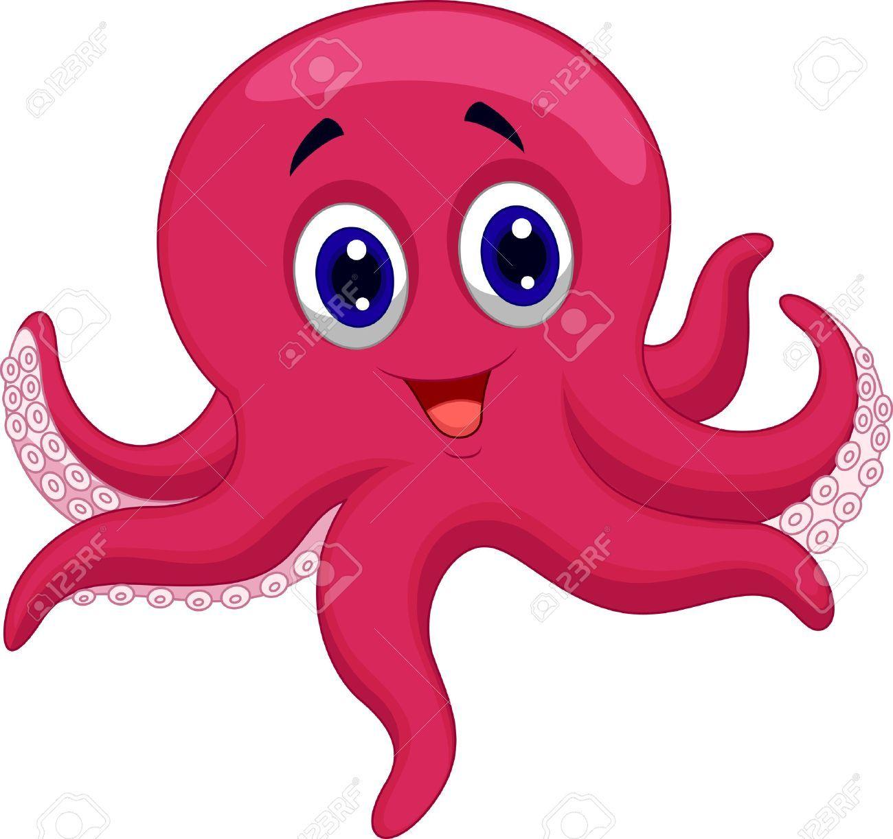 Octopuscartoon Dieren Kleurplaten Illustratie Illustraties