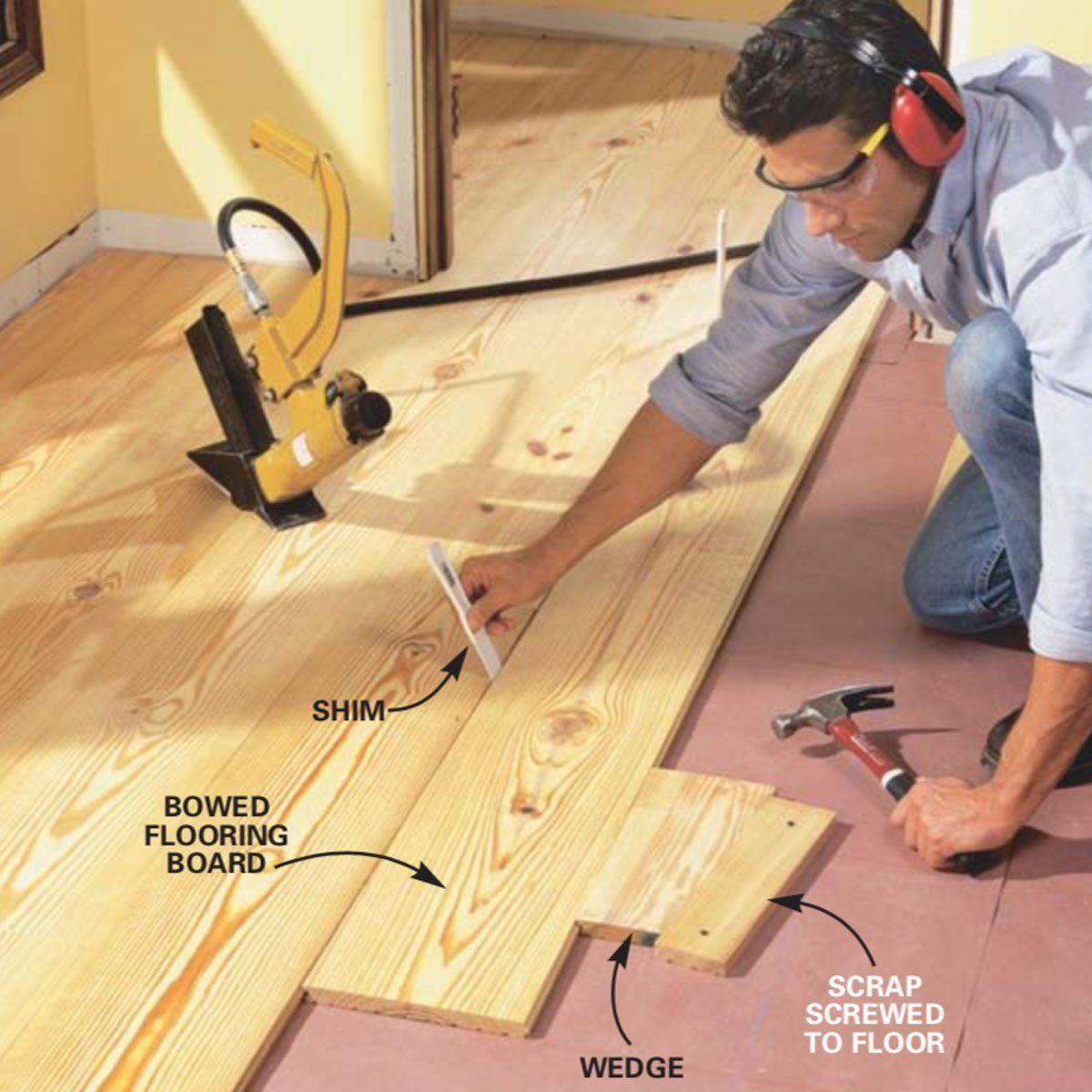 How to Install Pine Floors | Pine wood flooring, Wood ...