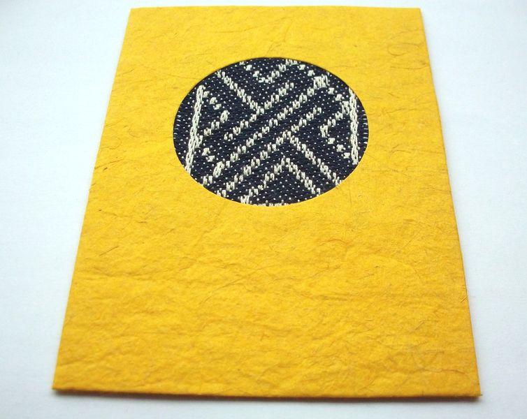 Irische Inspiration Karte mit handgewebtem Damast von WildeWebe auf DaWanda.com