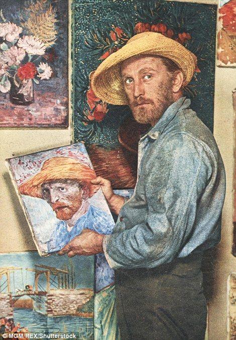 Kirk Douglas Gets Smooch From Catherine Zeta Jones And Son Michael Vincent Van Gogh Paintings Vincent Van Gogh Art Van Gogh