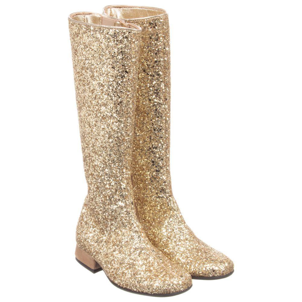 df8b8782a99 Monnalisa - Girls Gold Glitter Boots