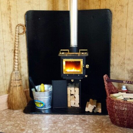 Cubic mini wood stove customer installation photo. - Cubic Mini Wood Stove Customer Installation Photo. Cubic Mini