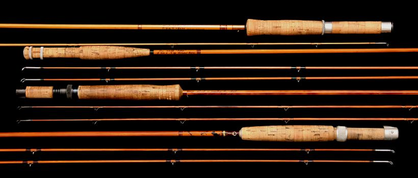 Bamboo fly rods leonard jim payne r l winston thomas for Antique bamboo fishing rods