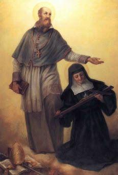 São Francisco de Sales e Santa Joana de Chantal, fundadores da Ordem da Visitação.