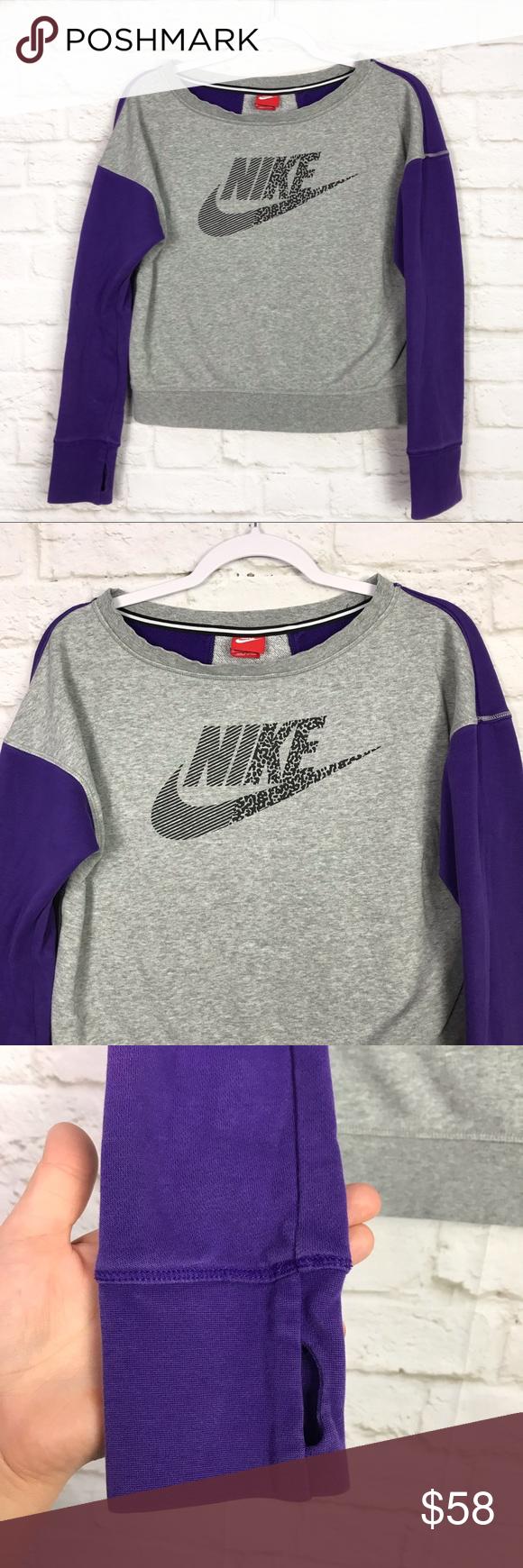 Nike 90 S Vintage Boatneck Crop Logo Sweatshirt Xl Clothes Design Sweatshirts Fashion [ 1740 x 580 Pixel ]