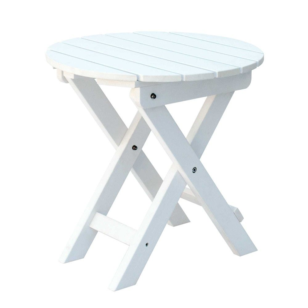 Round Plastic Tables Adirondack Round Plastic Folding Table White Shine Company Inc