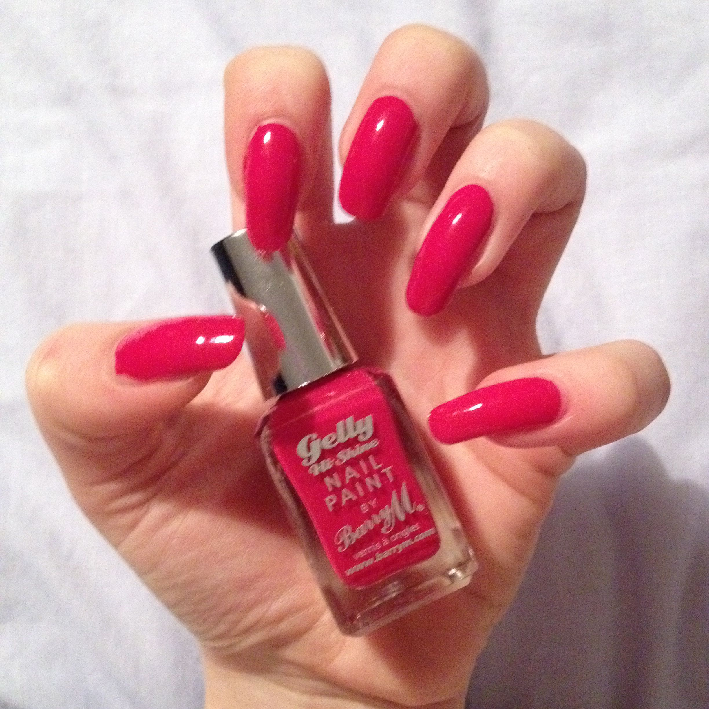 Beautiful Hot Pink acrylic nails Double Team Dynamicpunch