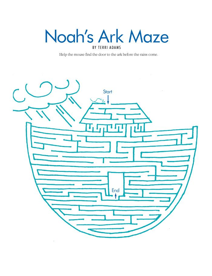 noahs ark coloring printable pages noah s ark maze could be colored september 2004 page