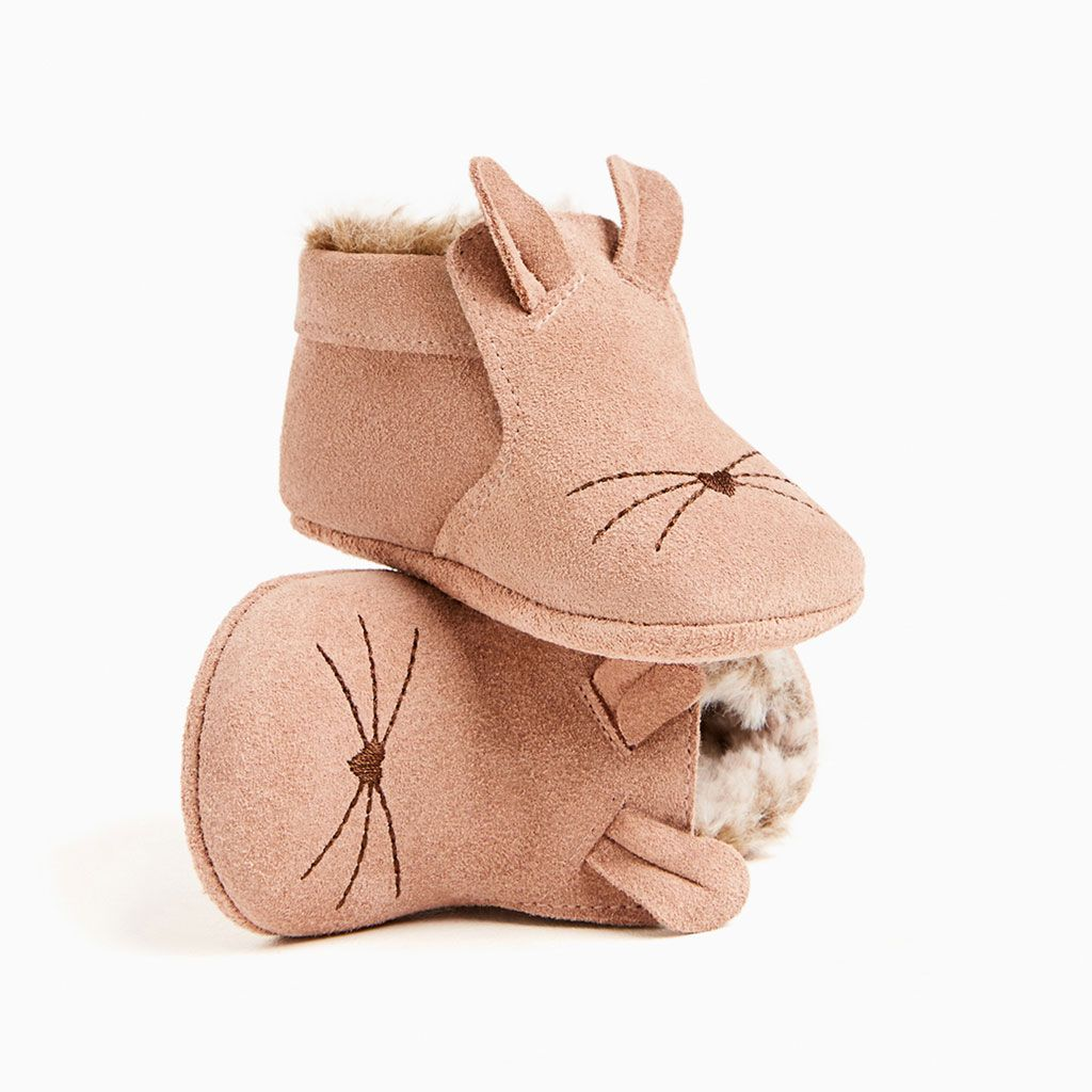 ZARA - KIDS - MINI LEATHER BOOTIES WITH MOUSE DETAIL