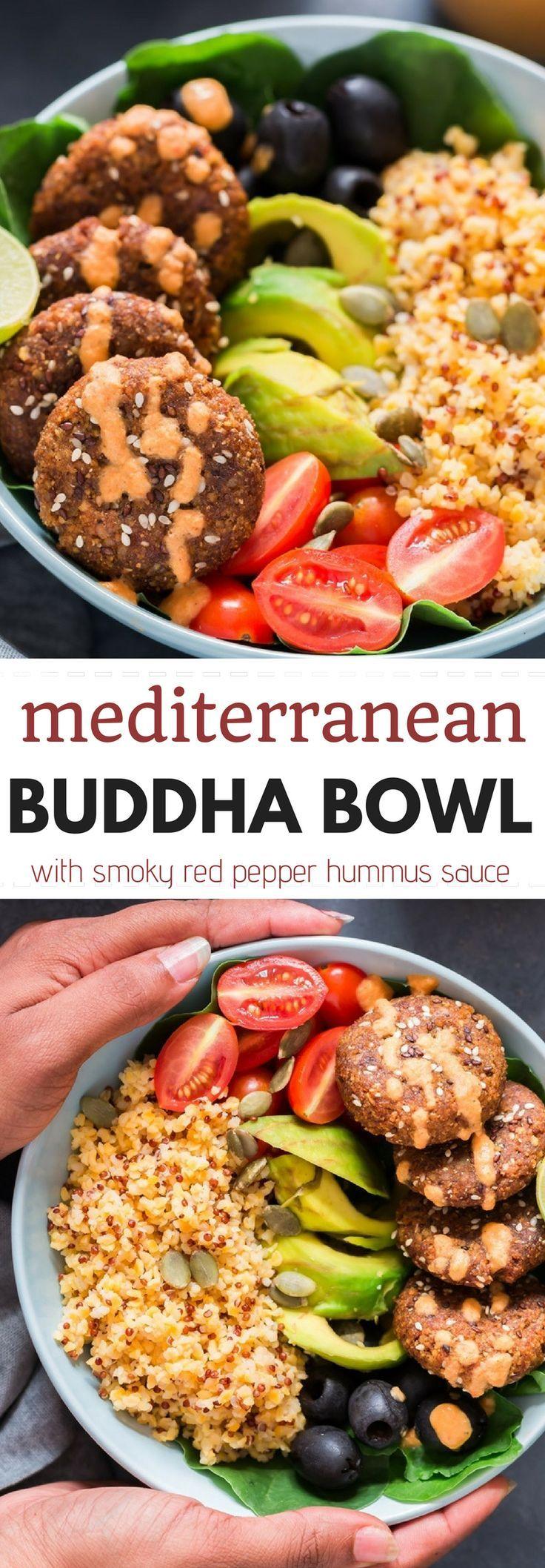 Mediterranean Vegan Buddha Bowl With Falafels And Hummus Dressing Vegan Gluten Free Dairy Free