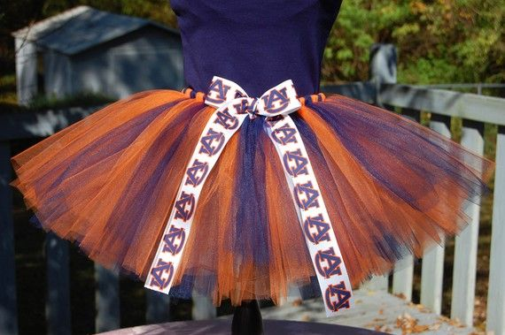Auburn Tigers War Eagle Tutu with Free Collegiate by atutudes, $24.95