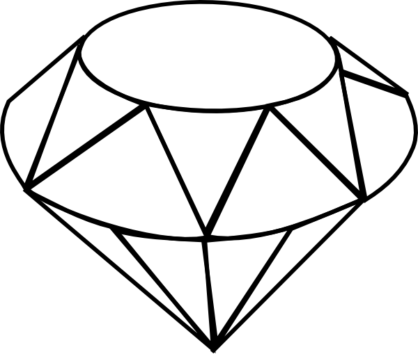 Line Art Diamond : Diamond line drawing shape inspiration hat